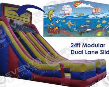 24ft Modular Dual Lane Slide