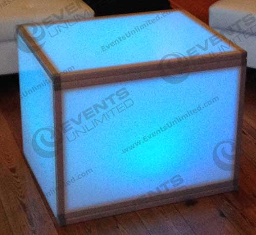 Glow Cube Bistro Table Events Unlimited