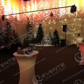 Company holiday party design and decor.
