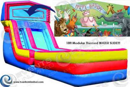 Cool Birthday Cake Water Slide Events Unlimited Birthday Cards Printable Riciscafe Filternl