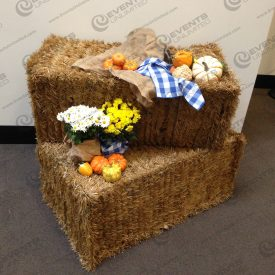 hay bale gourd harvest decor