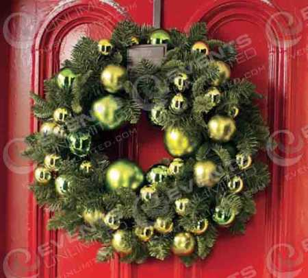 wreath-decorating