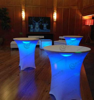Glow Spandex Bistro Table Events Unlimited