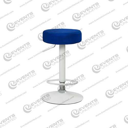 Adjustable White Chrome Barstool Events Unlimited