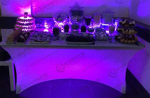 Glowing Spandex Banquet Table Events Unlimited