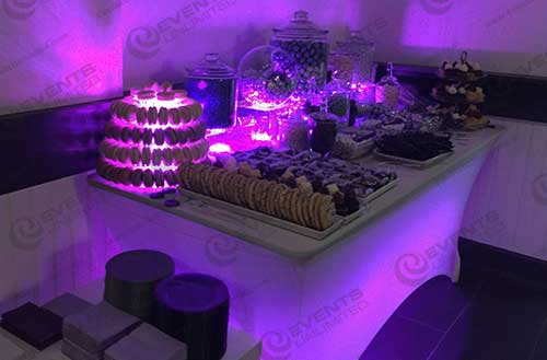 Yummy treats at a glow theme party!