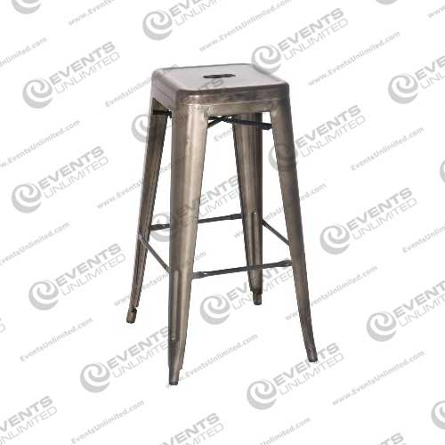 Industrial Gunmetal Stool Events Unlimited