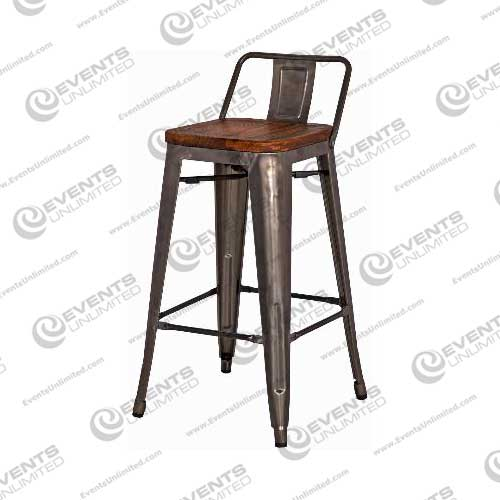 Industrial Wood and Gunmetal Stool Events Unlimited : industrialwoodbarstool from www.eventsunlimited.com size 500 x 500 jpeg 21kB