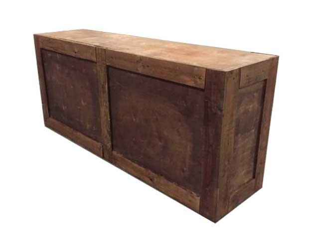 Rustic wood bar events unlimited for Rustic home bar furniture