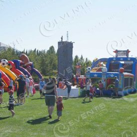 Event Entertainment rock climbing walls and Inflatable game rentals