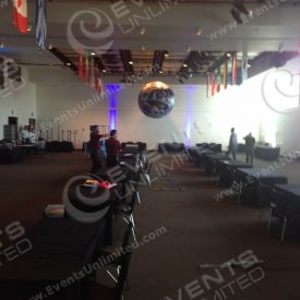 8ft Globe prop and country flags