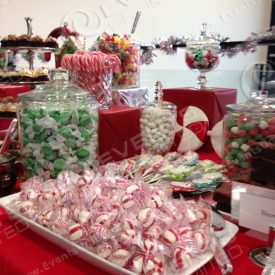 Holiday peppermint candy station.