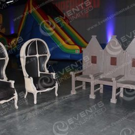 Great furniture pieces available for any party.