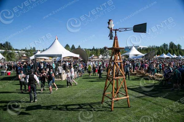 This is one of the 9ft windmills we brought it.  We also brought in 2 13ft windmills and 2 20ft- windmills to the event location!