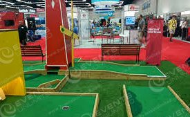 Minigolf is a great tradeshow activity!