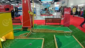 Minigolf is a great tradeshow activity!
