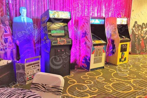 A boom box, Ronald Reagan and classic arcades.