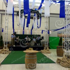 Oktoberfest installation for corporate event customer in Renton, WA