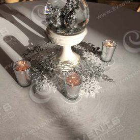Table decor- centerpiece designed, crafted, placed and taken away by Events Unlimited.