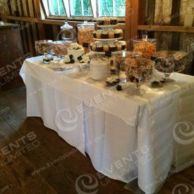 Yum.  Wedding cake and cupcake stand!
