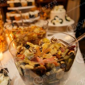 Yummy food station for a wedding reception.