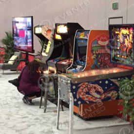 Pinballs and arcades.