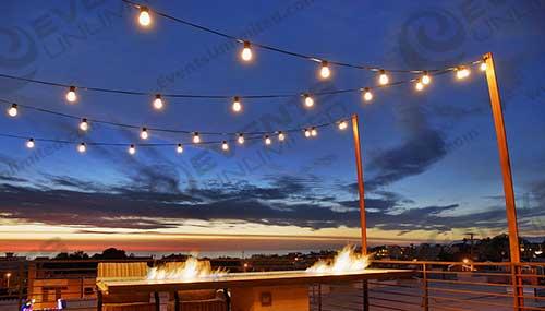 bistro lighting and event decor