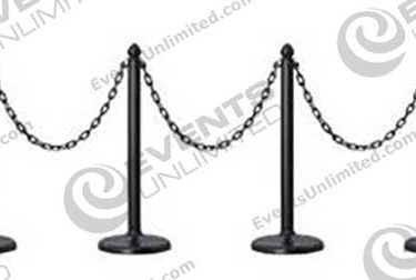 Plastic Black Stanchions