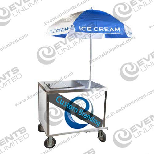 Branded Rental Ice Cream Cart