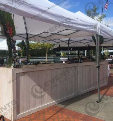 white washed bar table