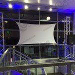 white spandex screen