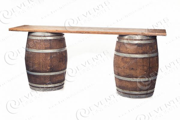 wood barrel bar rental