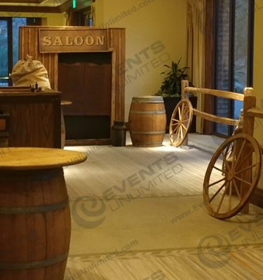 Saloon Vignette western event decor