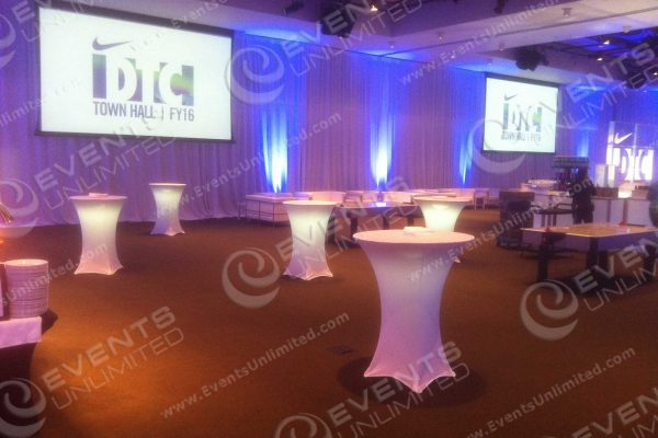 Corporate Event Room designa dn scenic decor