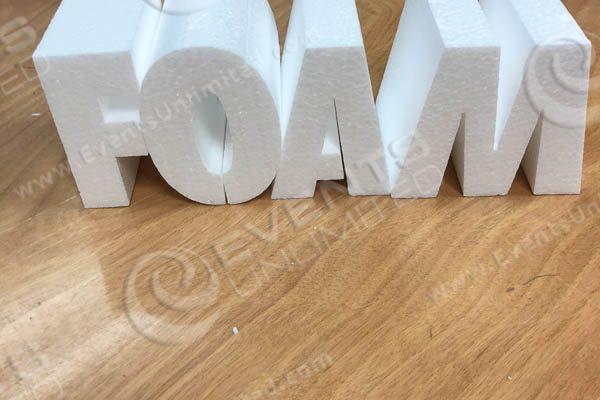 Foam 3D LEtters