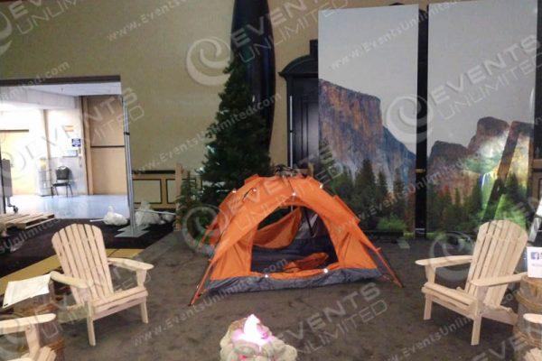 camp themed prop rental