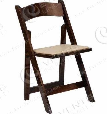 fruitwood folding chair rental
