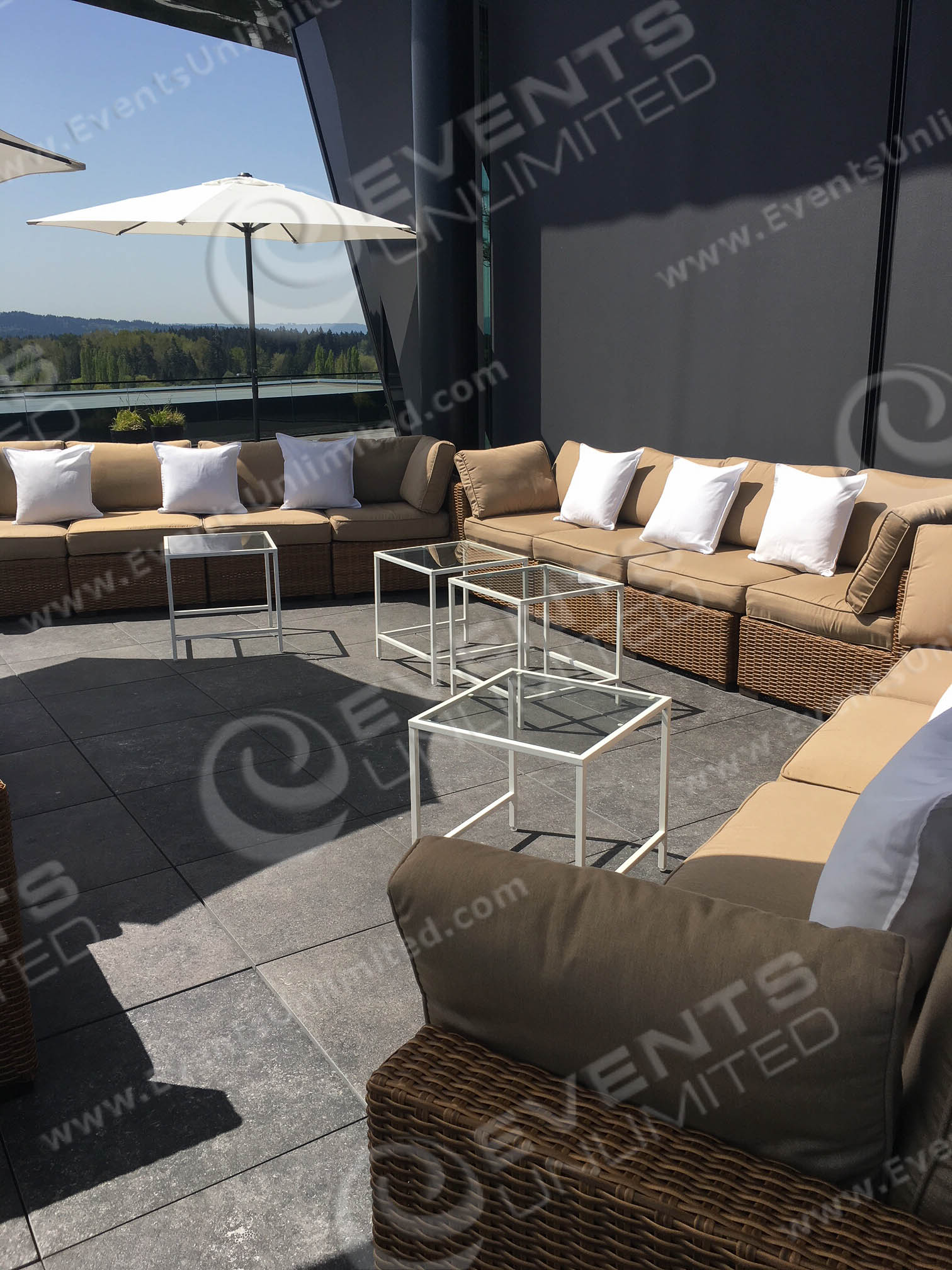 Wicker Patio Furniture Red Cushions: Brown Blonde Wicker Seating