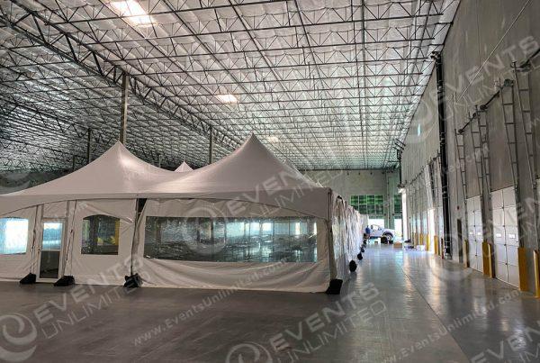 tent for social distanced break room